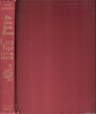 The New York Times Large Type Cook Book. Jean Hewitt