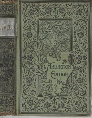 Early Poems; Arlington Edition. James Russell Lowell